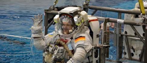 un astronaute