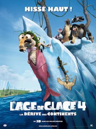 affiche du film Ice age 4 (L'age de glace 4: La dérive des continents)