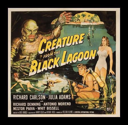 affiche L'Étrange Créature du lac noir (Creature from the Black Lagoon)