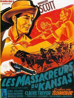 affiche du film Les massacreurs du Kansas (The Stranger Wore a Gun)