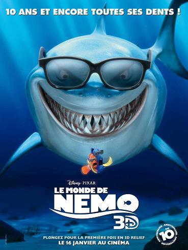affiche le monde de Nemo 3d
