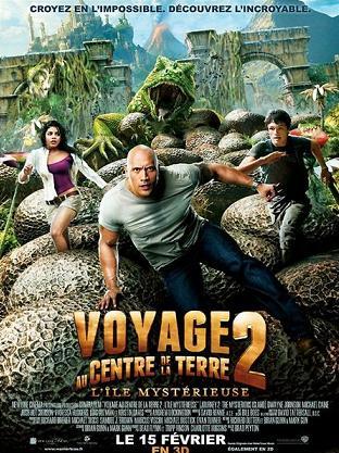 affiche du film Voyage au centre de la Terre 2 (L'île mystérieuse)