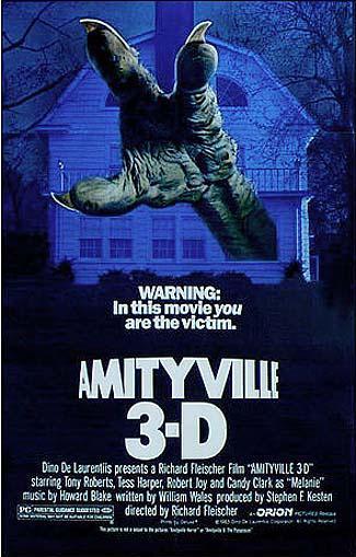 affiche du film amityville 3d (le démon)