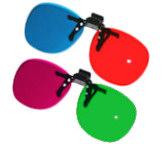 lunettes 3D de couleurs.