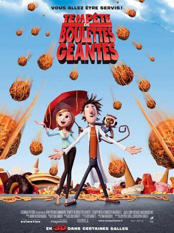 affiche tempête de boulettes geantes