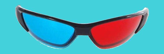 lunettes 3D anaglyphe.
