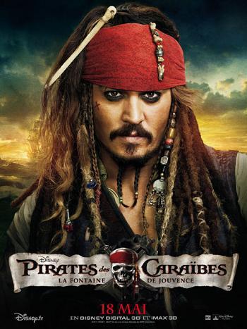affiche Pirates Des Caraïbes – La Fontaine De Jouvence