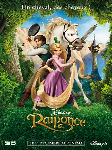affiche Raiponce 3D (Tangled)