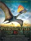 affiche ptérodactyles 3d: dans le ciel des dinosaures