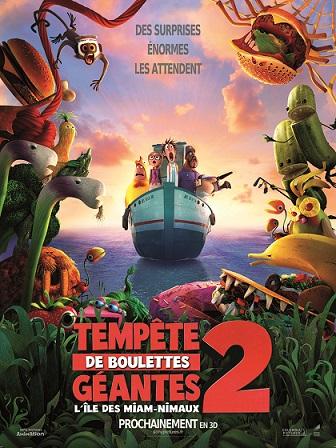 affiche Tempête de boulettes géantes 2: L'Île des Miam-nimaux